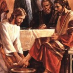 washing feet Jesus
